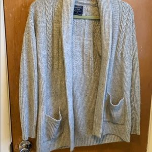 Cable Shawl Collar Sweater